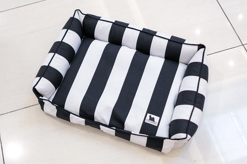 Premium Luxebed  - Black & White Stripes #186