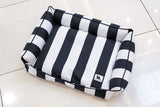 Premium Luxebed Medium - Black & White Stripes #186