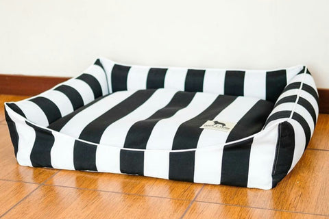 Basic Luxebed Midi  - Black & White Stripes #186