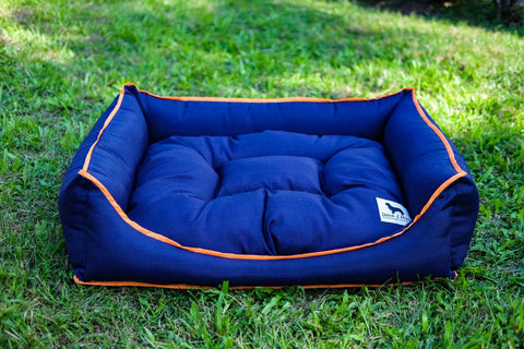 Basic Luxebed - Blue with Orange Trim
