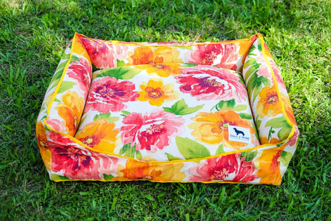 Basic Luxebed Large - Orange Summer Floral #148