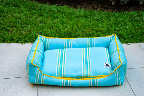 Premium Luxebed Small - Aqua Stripes #39
