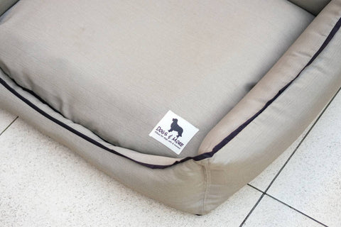 Premium Luxebed Large - Beige with White Trimmings