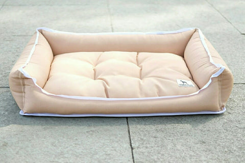 Premium Luxebed Small - Tan with White Trim #1