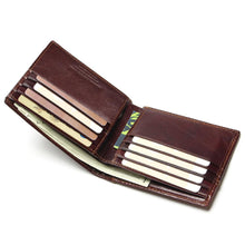 TAUREN RFID BLOCKING New Stylish Men Wallet  Genuine Cow Leather Male Bifold Purse With Card Pocket RFID Protection