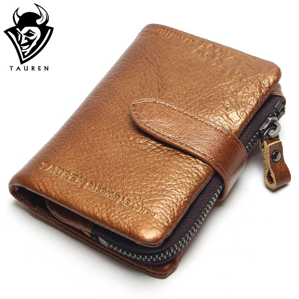Classical European And American Style Men Wallets 100% Genuine Leather Wallet Fashion Zipper Brand Purse Card Holder Coin Purse