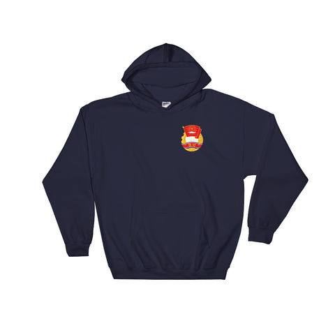 navy KS Youth League Hoodie with small logo on chest