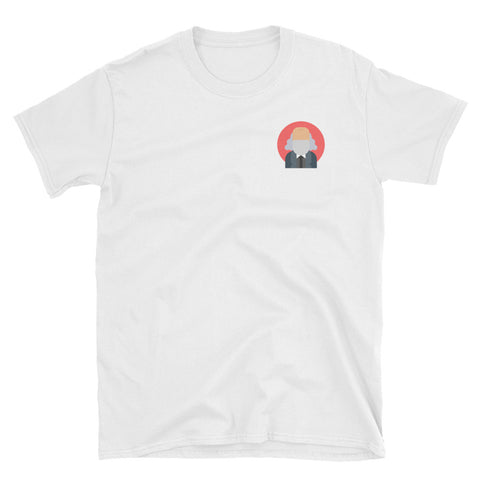 white Commie TShirt with commieshop logo