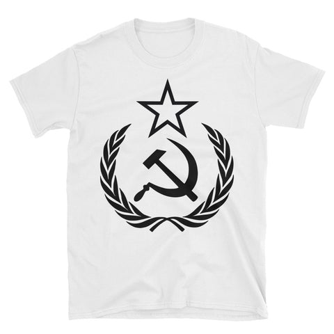 white The Communist Tshirt with a big logo