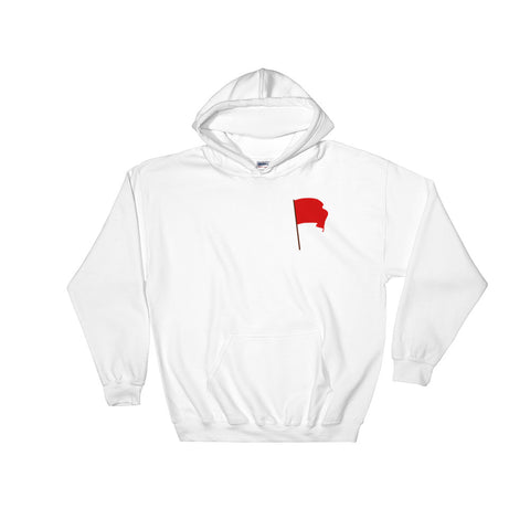 white Red Flag Hoodie communist flag on chest