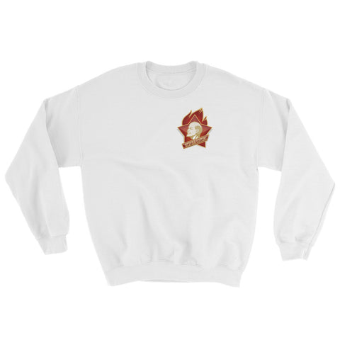white Young Pioneer Sweatshirt with small logo