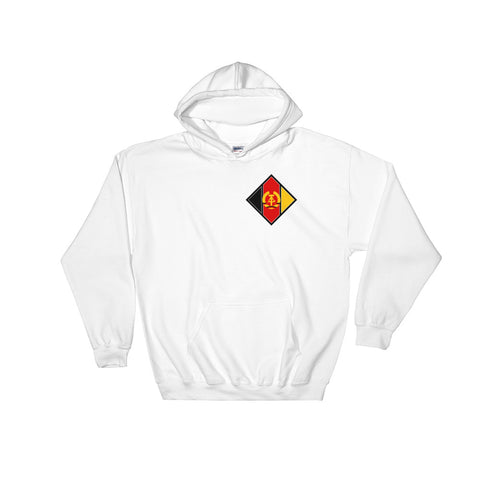 White The NVA Aircraft Hoodie is logo comes from The Air Forces of the National People's Army in Germany, is placed on the left side of the hoodie