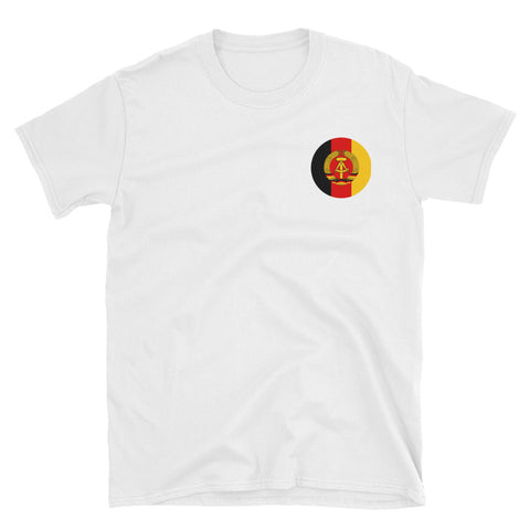 White Ground Forces NVA T-Shirt with GDR logo on left side