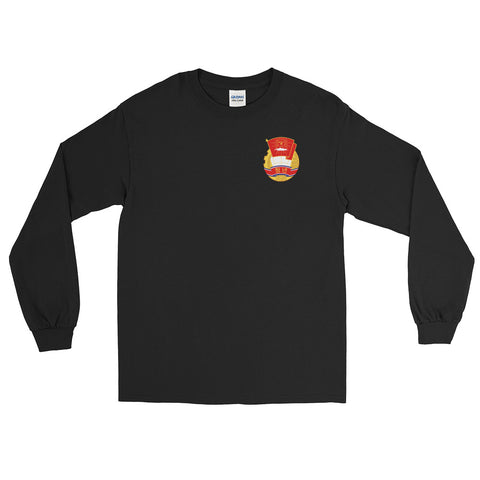 Black North Korea KS Youth League long sleeve tshirt with KSYL small logo on chest