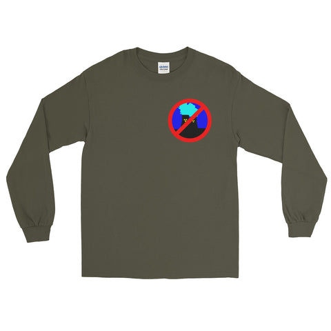 green Anti Nuclear long sleeve tshirt crossed out logo