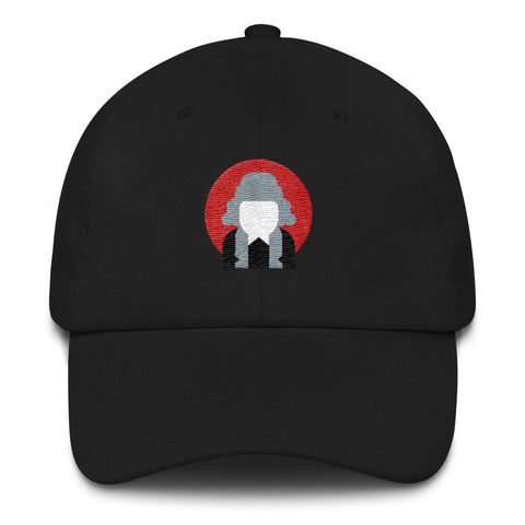 black communist commieshop cap with logo on front
