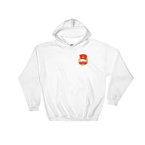 white KS Youth League Hoodie with small logo on chest