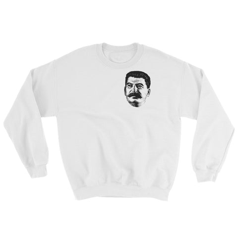 white Stalin Sweatshirt with small logo of stalin