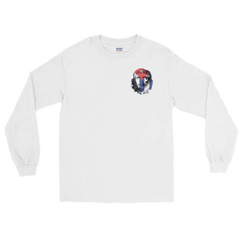 white Revolution che guevara Long Sleeve tshirt with logo