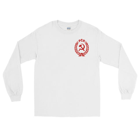 white PCR Coat of Arms Tshirt small logo