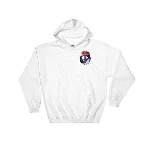 white Revolution che guevara Hoodie with small logo