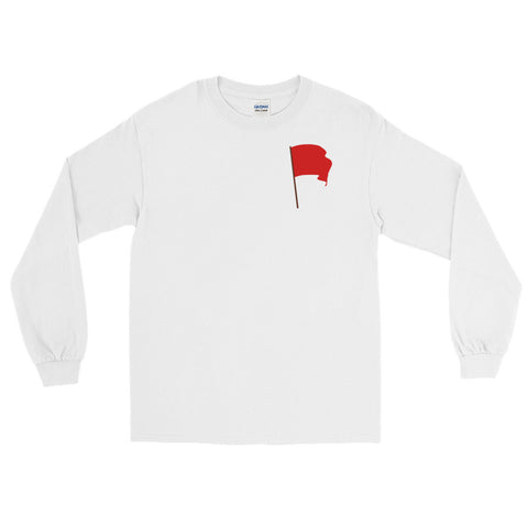 white Red Flag Long Sleeve communist flag on chest