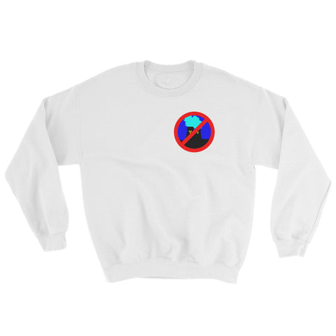 White Anti Nuclear sweatshirt crossed out logo
