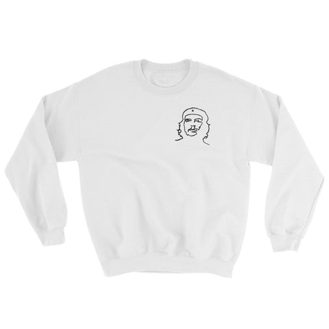 white Che Guevara Sweatshirt with small logo on left side