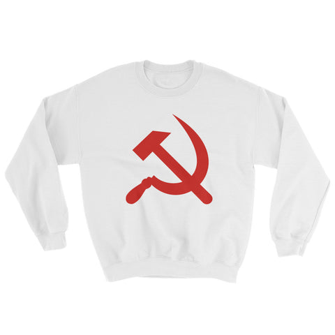 white hammer and sickle swea