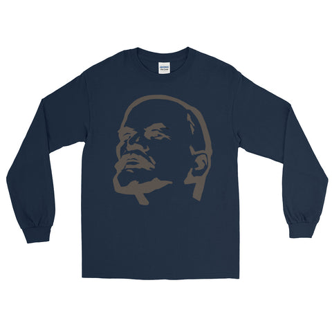 Navy Lenin Revolutionary Long Sleeve big logo