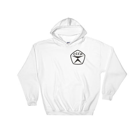 White CCCP Hoodie with a CCCP seal of quality