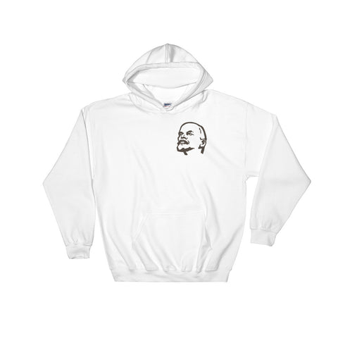 White Lenin Revolutionary Hoodie with lenin ussr logo