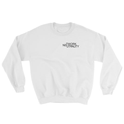 Internet Neutrality Logo Sweatshirt white