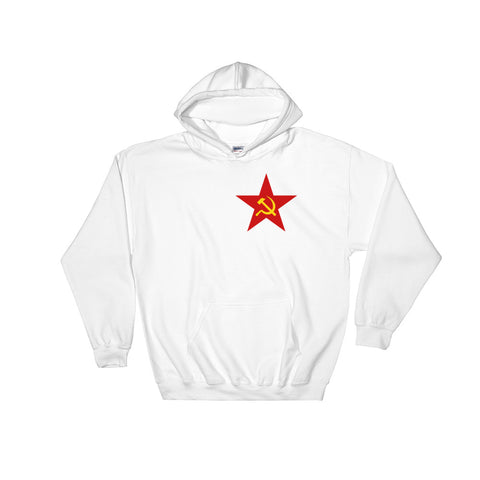 White Red Star communist hoodie ussr soviet union