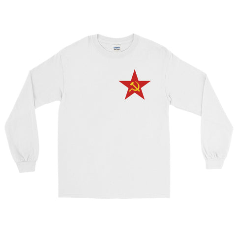 White Red Star Long Sleeve tshirt communist ussr