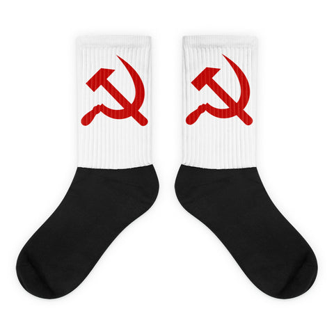 Hammer and Sickle Socks