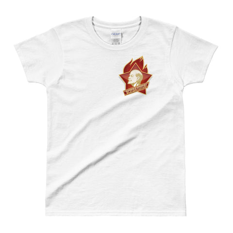 white Young Pioneer T-shirt with small logo