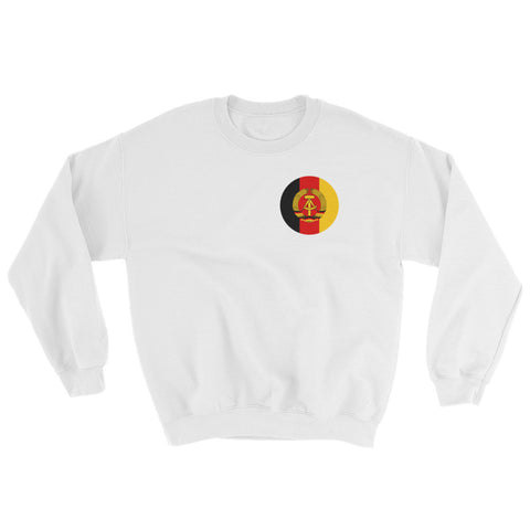 White Ground Forces NVA Sweatshirt, with german GDR logo on left side