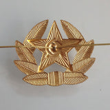 gold Soviet Union Red Star Communist Badge