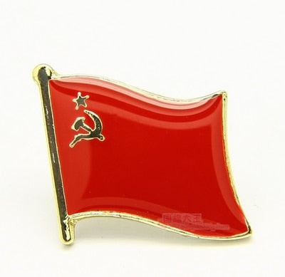National Flag USSR Russia pin