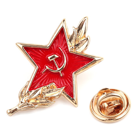 Hammer and sickle soviet pin