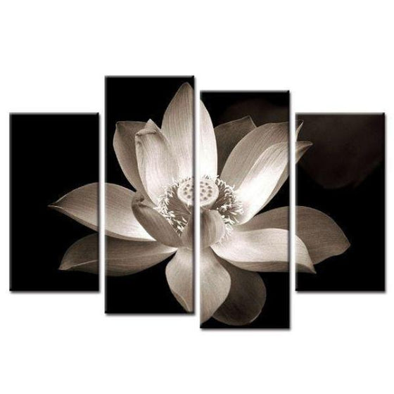 Bloomed White Flower Canvas Wall Art