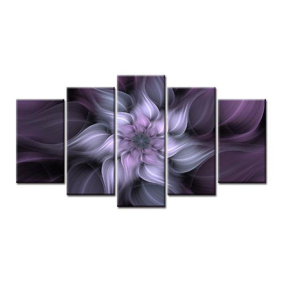 Alluring Purple Flower Canvas Wall Art