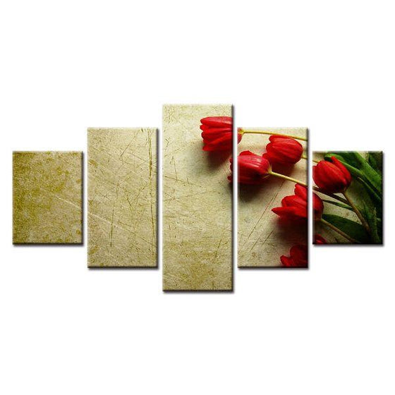 Red Flower Canvas Wall Art Prints