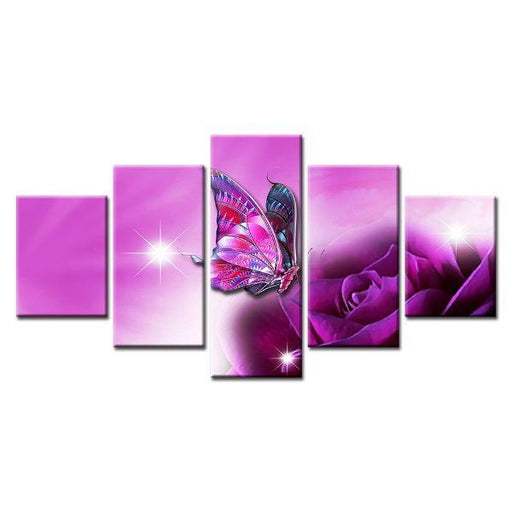 Shimmering Purple Flower Canvas Art