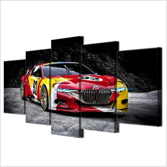 Red Race Car Canvas Wall Art Prints