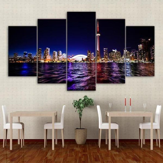 5 Piece City Wall Art Ideas