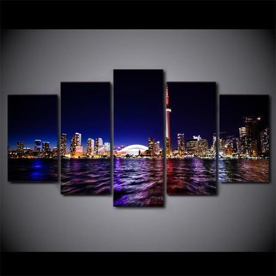 5 Piece City Wall Art Print