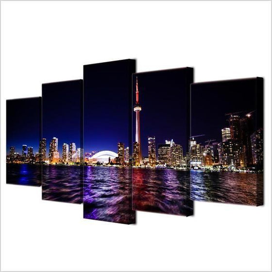 5 Piece City Wall Art Prints