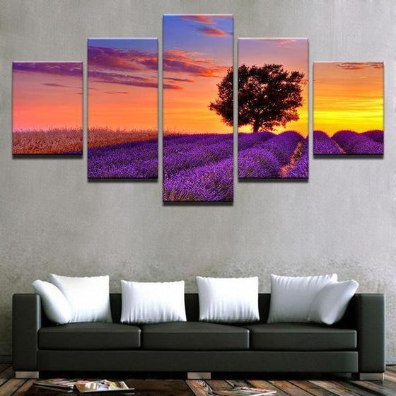 5 Piece Sunset Wall Art Idea